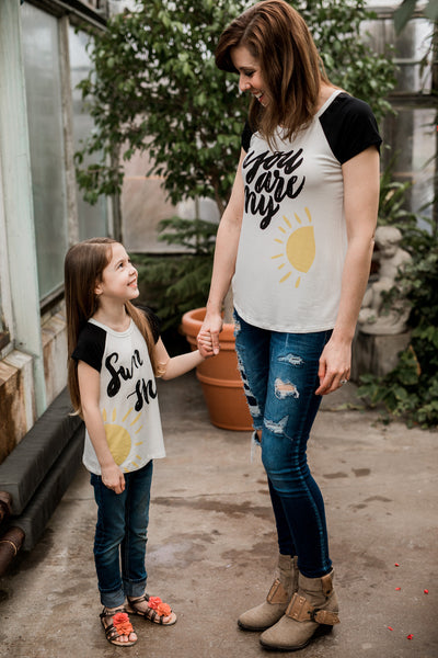 You Are My Sunshine for Girls,Shirts,PS Kate-The Little Clothing Company