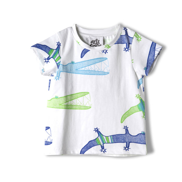 Baby Alligator Organic Cotton Tee,Shirts,Art & Eden-The Little Clothing Company