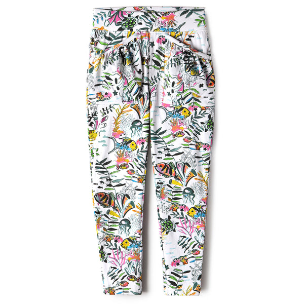 Water World Girls Legging Pants,Bottoms,Art & Eden-The Little Clothing Company
