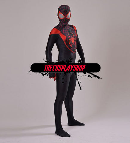 Miles Morales Red Ultimate Spider-Man Cosplay Costume