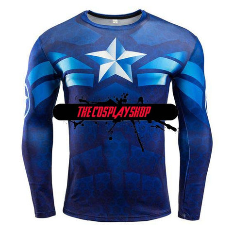 Avenger's Captain America Long Sleeve Shirt