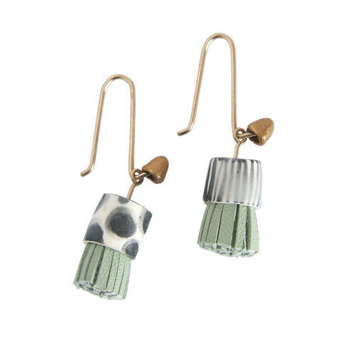 Dex Earrings - White and Gold