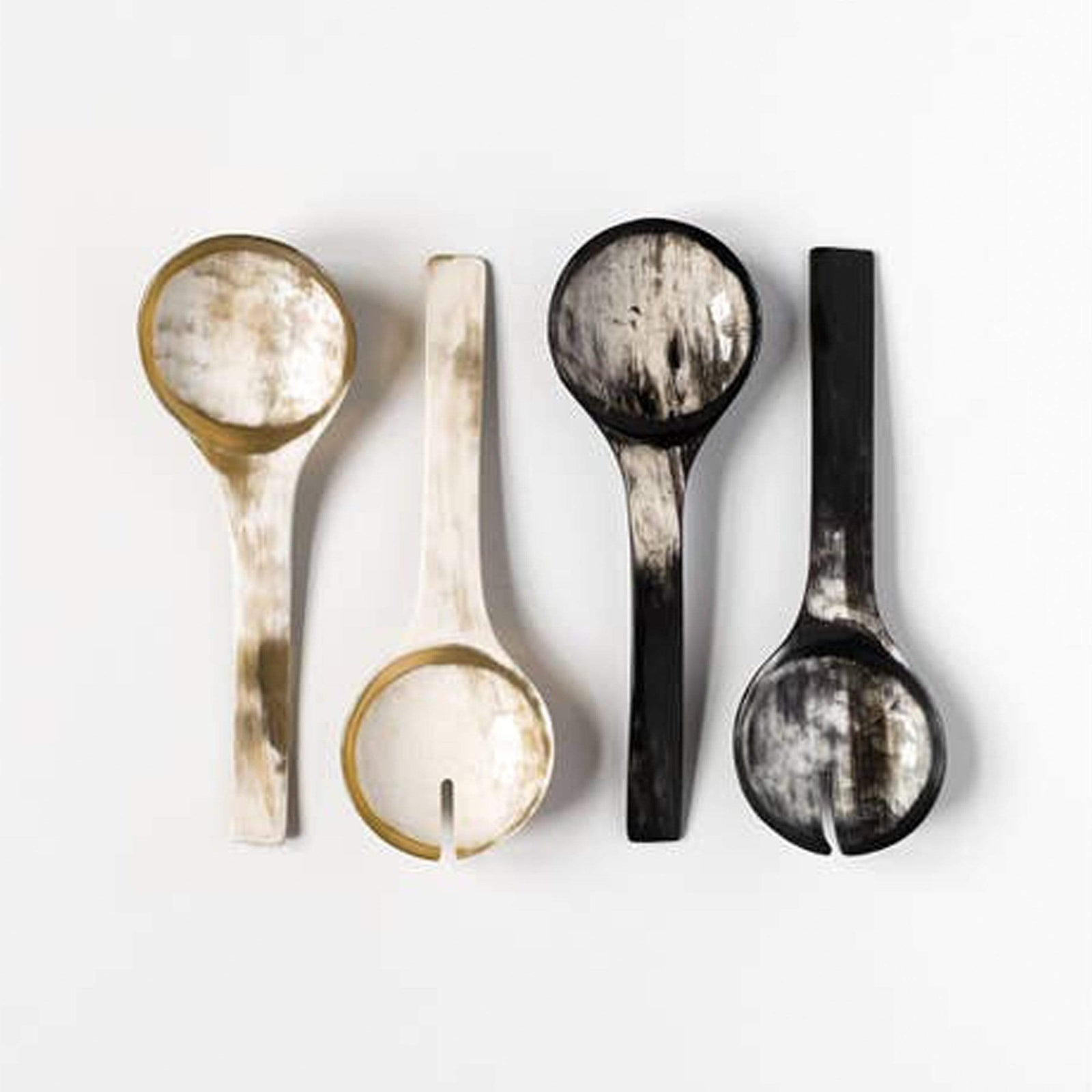 Rose & Fitzgerald Kitchenware Ankole Horn Serving Spoon Sets
