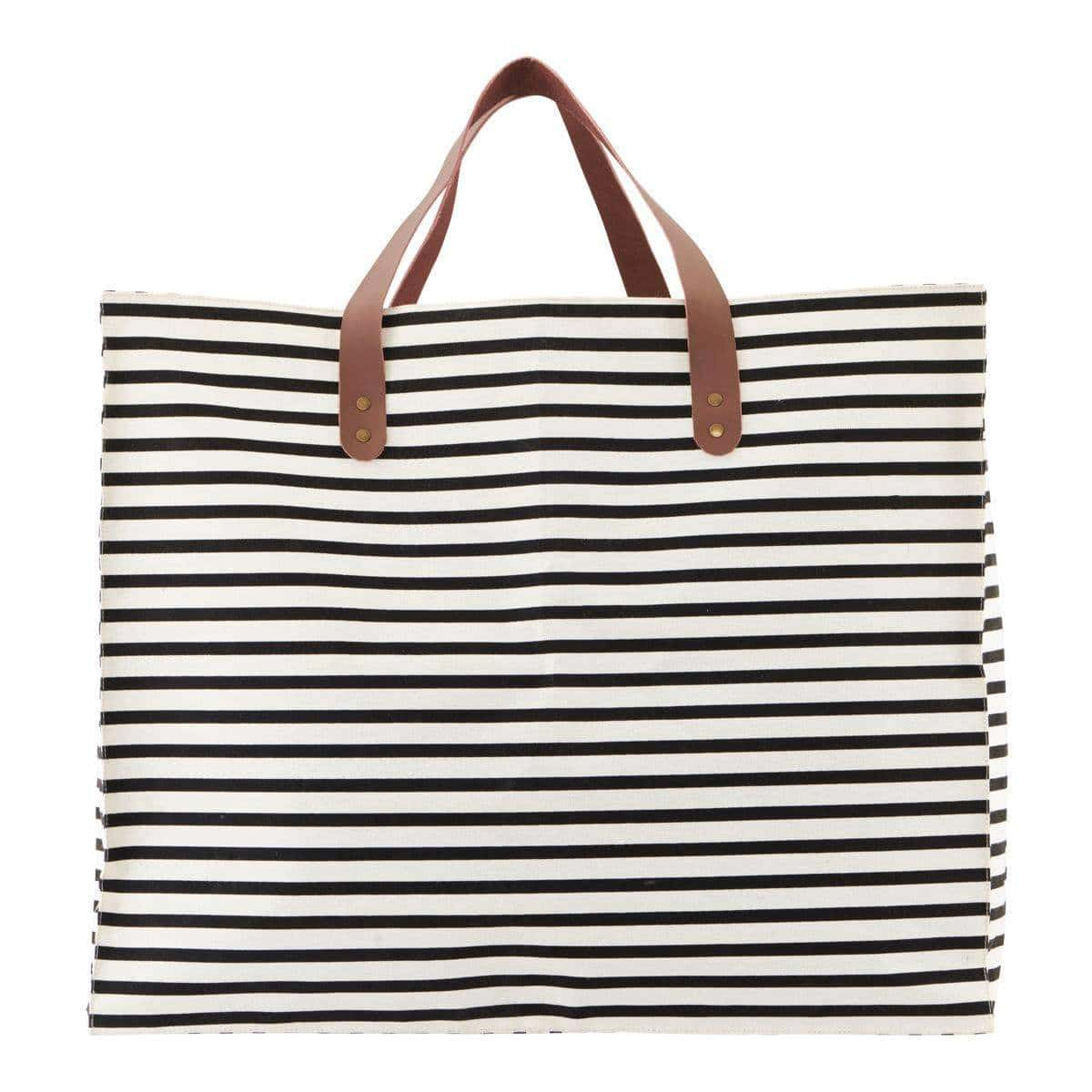 Society of Lifestyle Bag/storage, Stripes, Black/White
