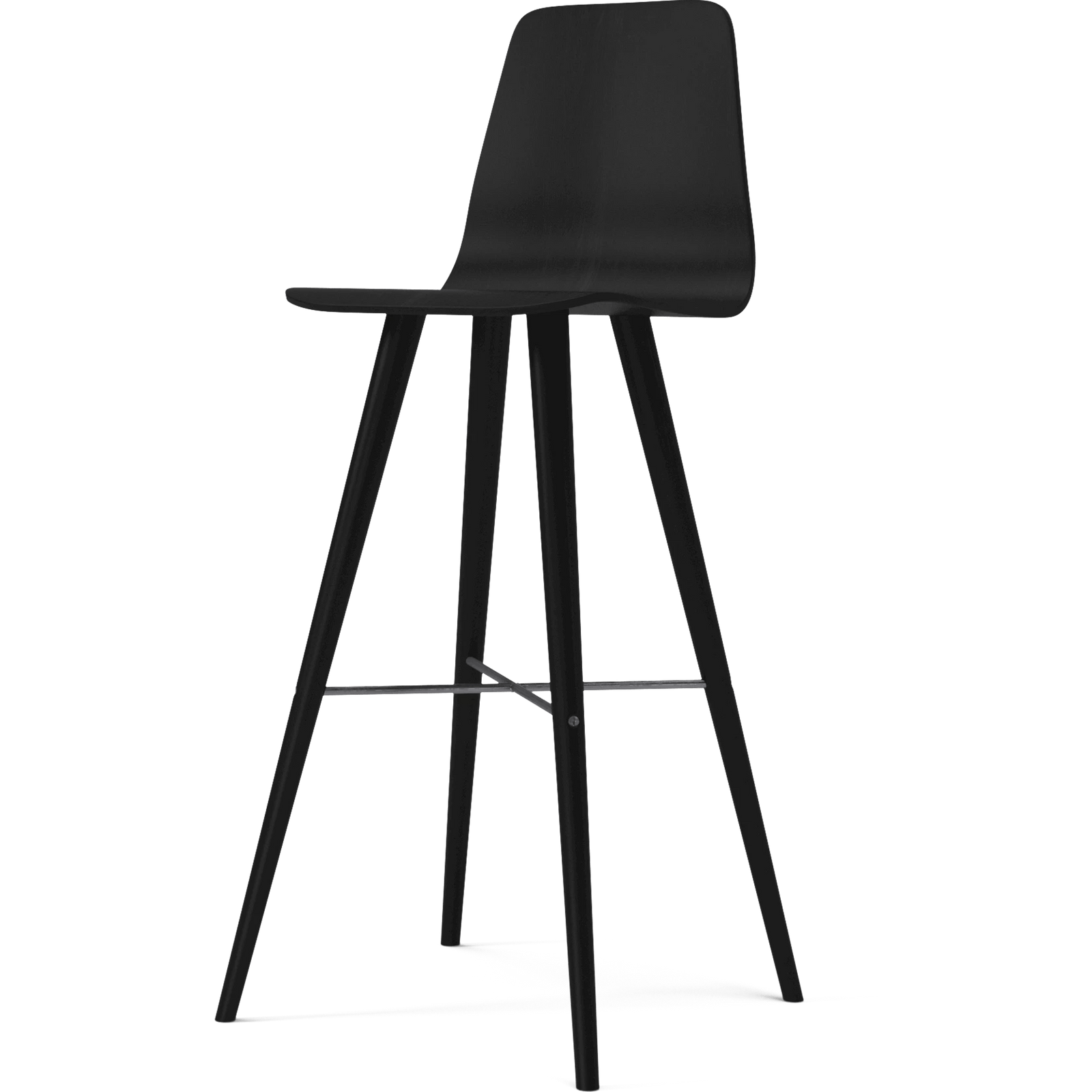 Bolia Furniture Black / Black Oak Beaver High Barstool