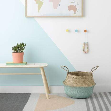 Olli Ella Basket Belly Basket - Dipped Mint