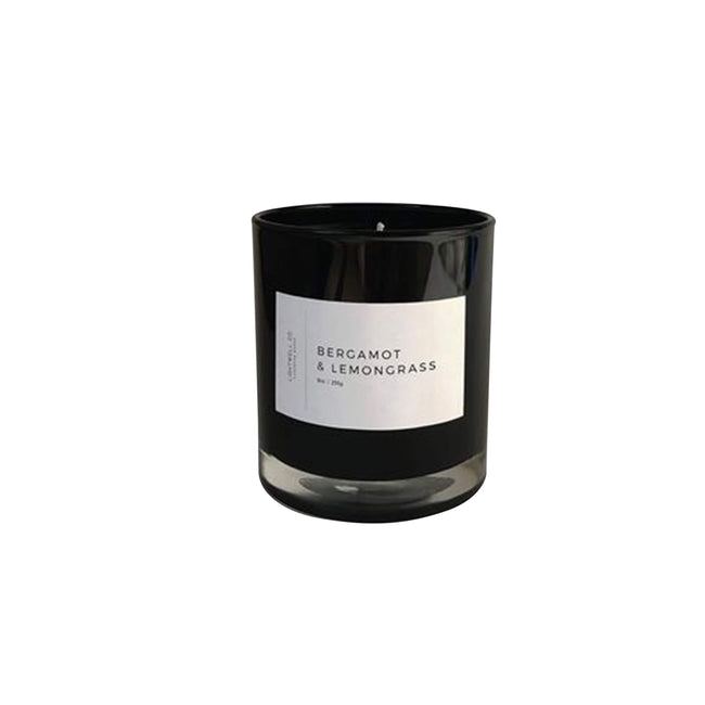 Lightwell Co. Candle Bergamot & Lemongrass Black Tumbler Candle