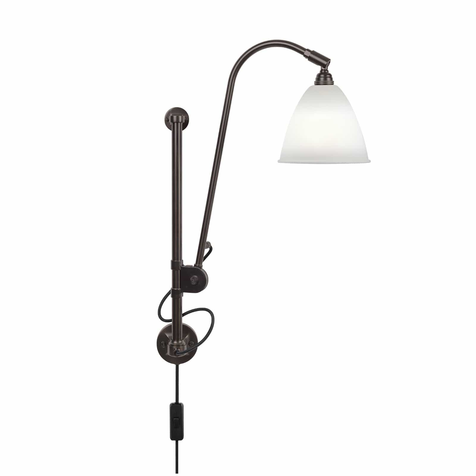 Gubi Lighting Black Brass / Bone China BL5 Wall Lamp