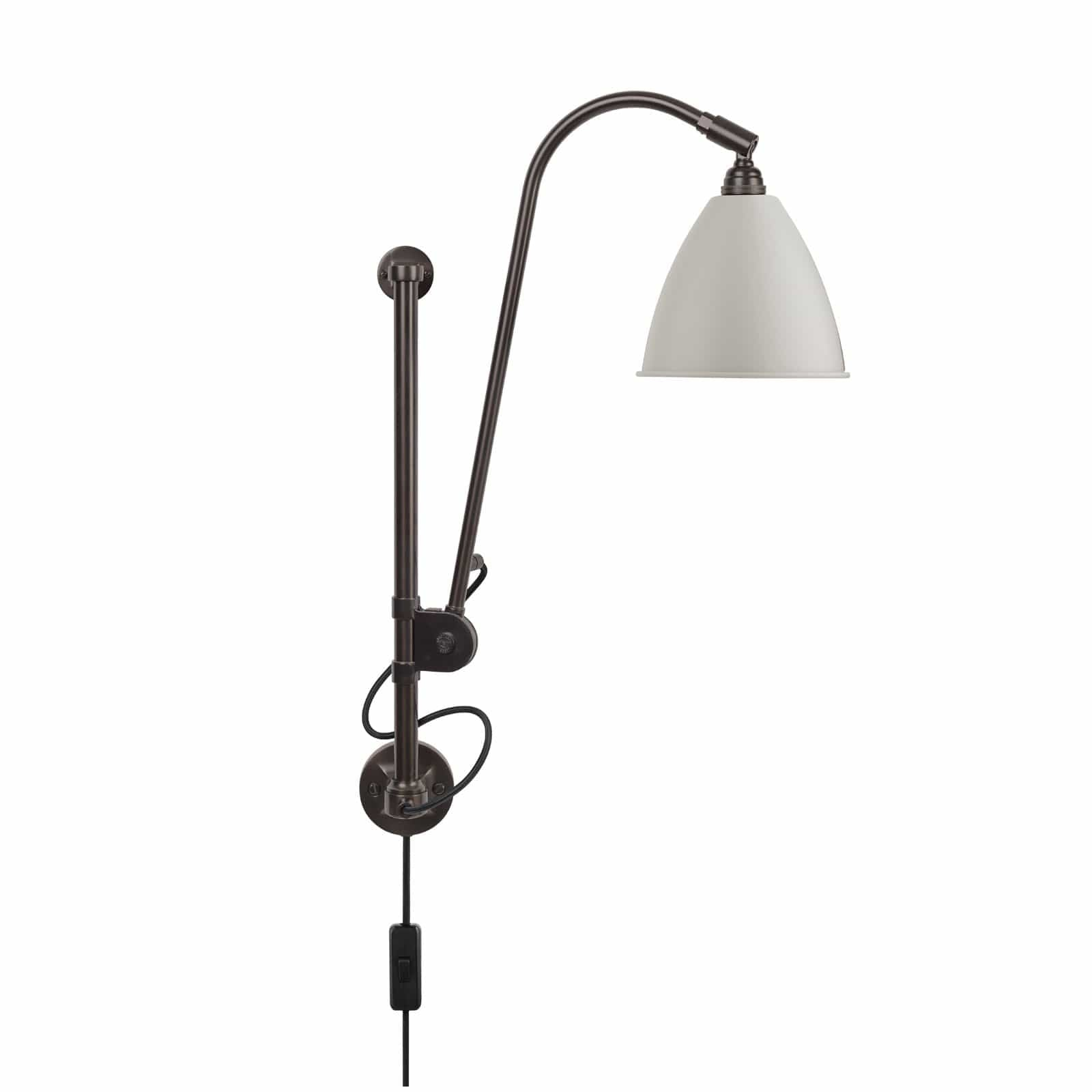 Gubi Lighting Black Brass / Classic White Semi Matte BL5 Wall Lamp