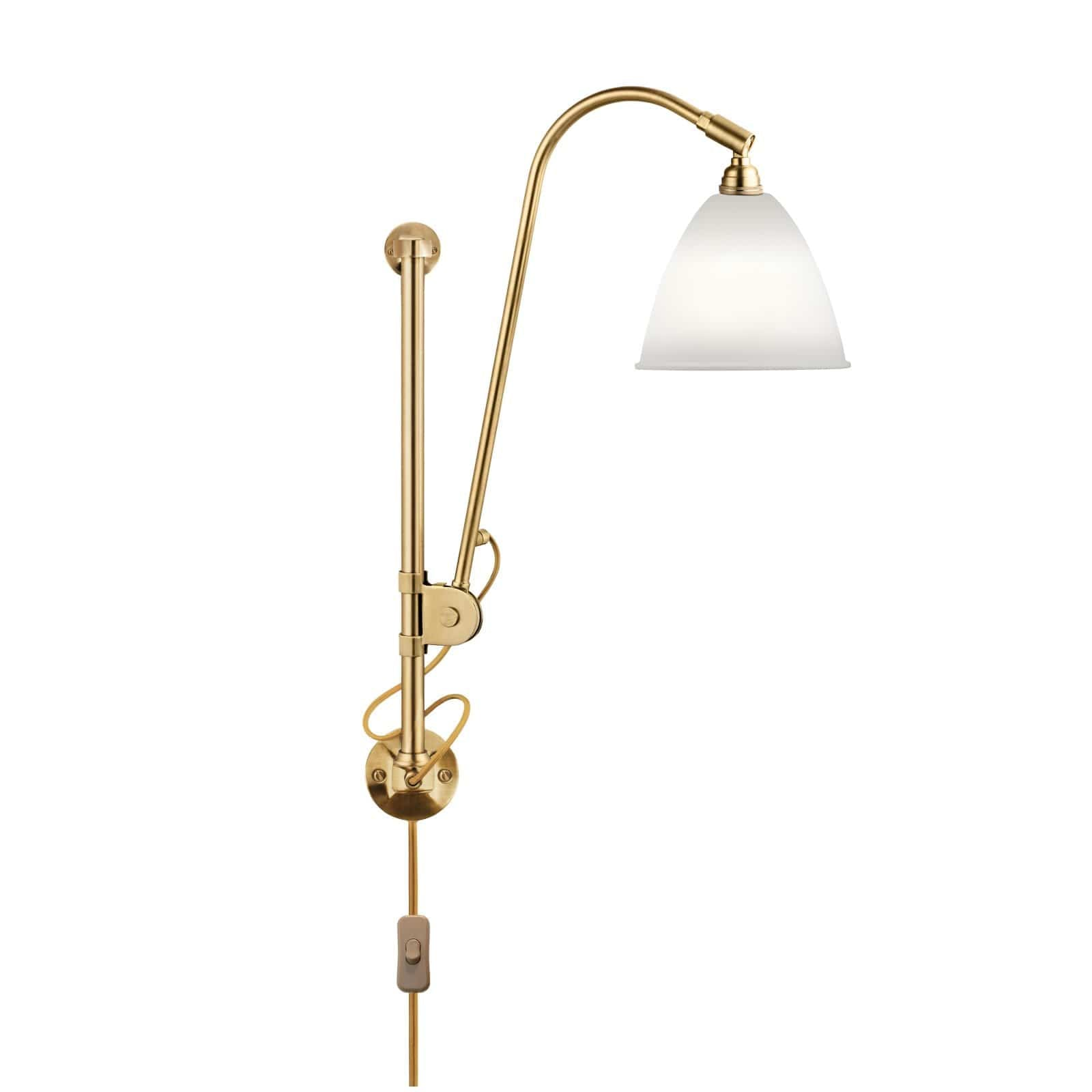 Gubi Lighting Brass / Bone China BL5 Wall Lamp