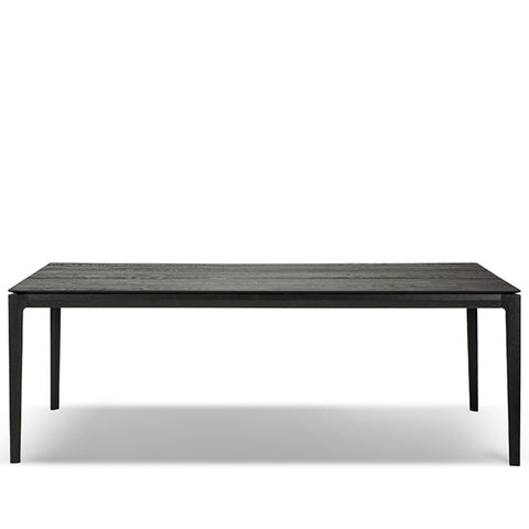 Oak Torsion Dining Table, Black
