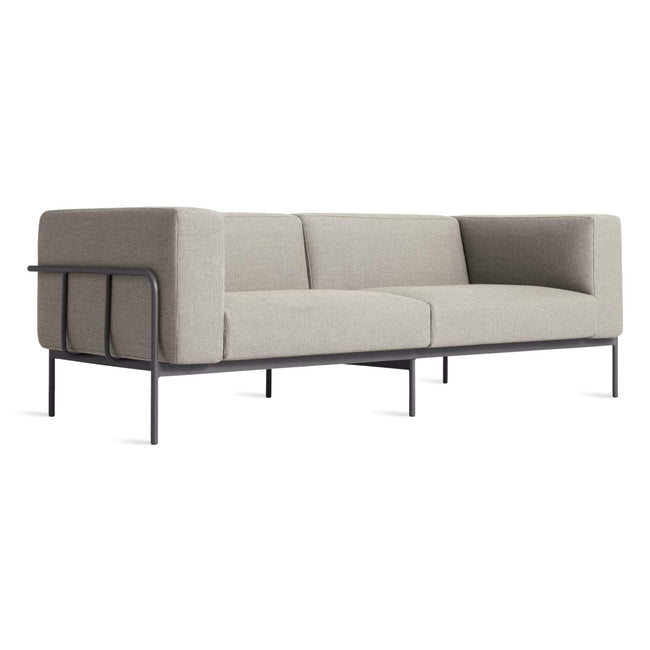 Blu Dot Furniture Sunbrella Charcoal Cache Outdoor Sofa