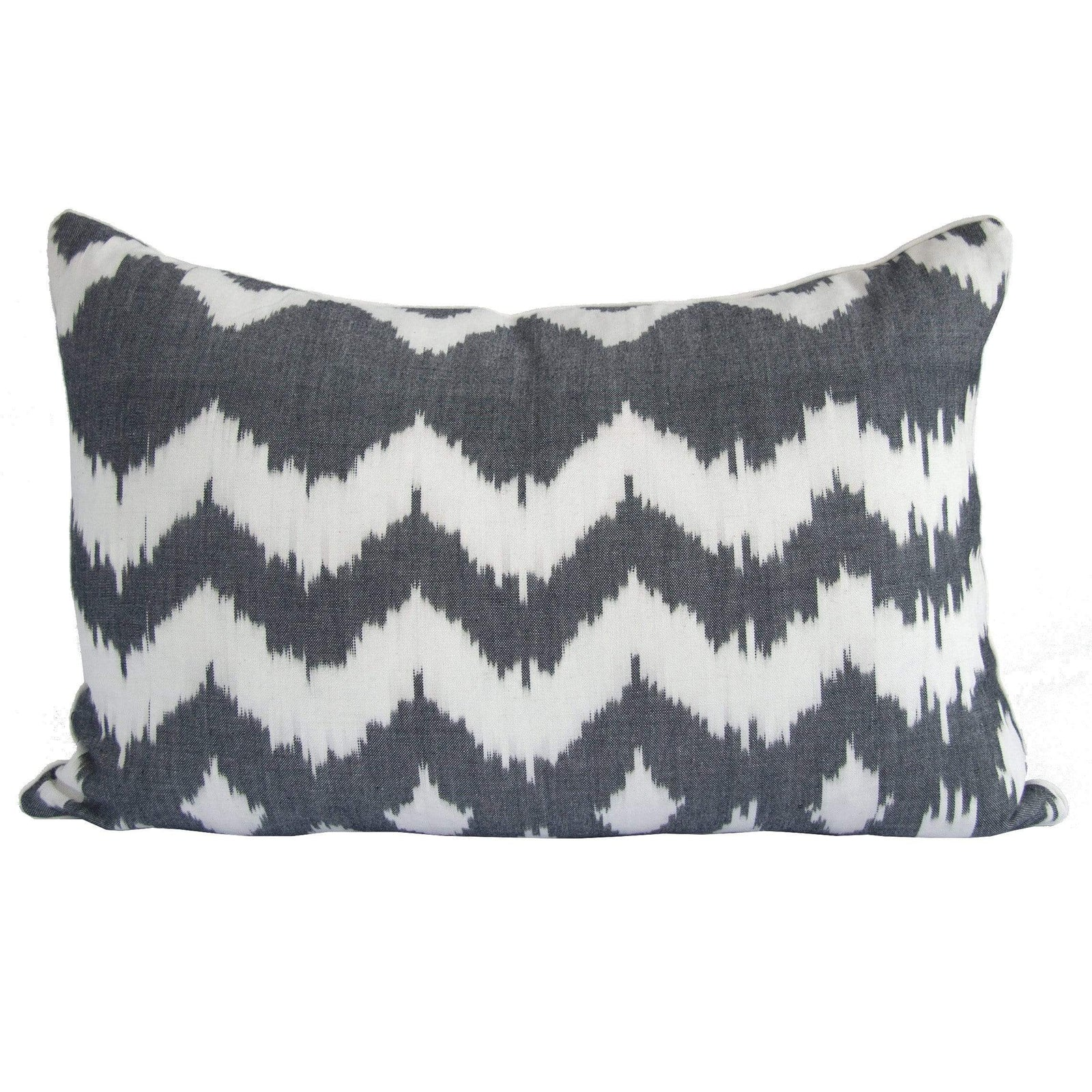 Tine K Home Pillow Charcoal Wave Ikat Pillow