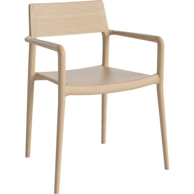 Bolia Furniture White Oiled Oak Chicago Dining Arm Chair