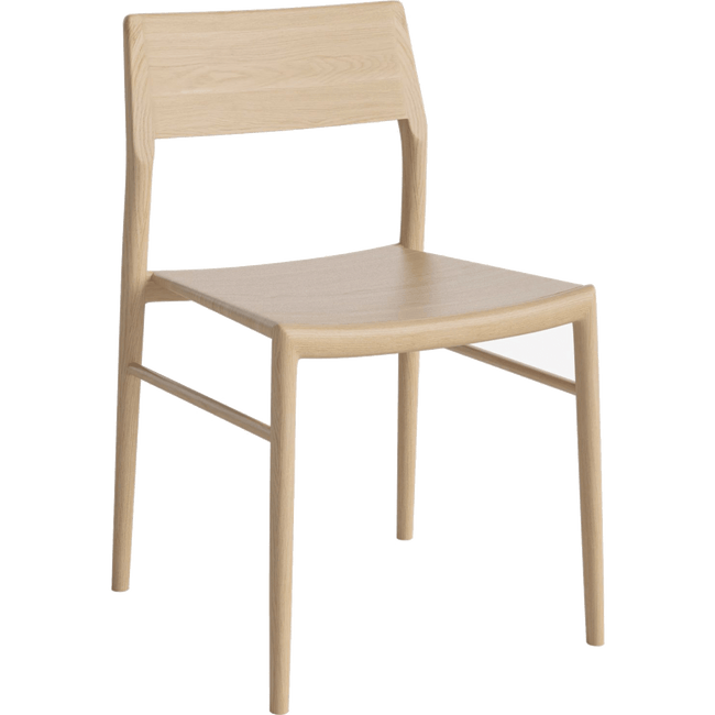 Bolia Furniture White Oiled Oak Chicago Dining Chair