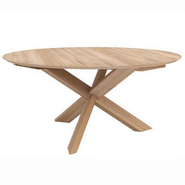 "Ethnicraft Furniture 54"" / Oak Circle Dining Table"