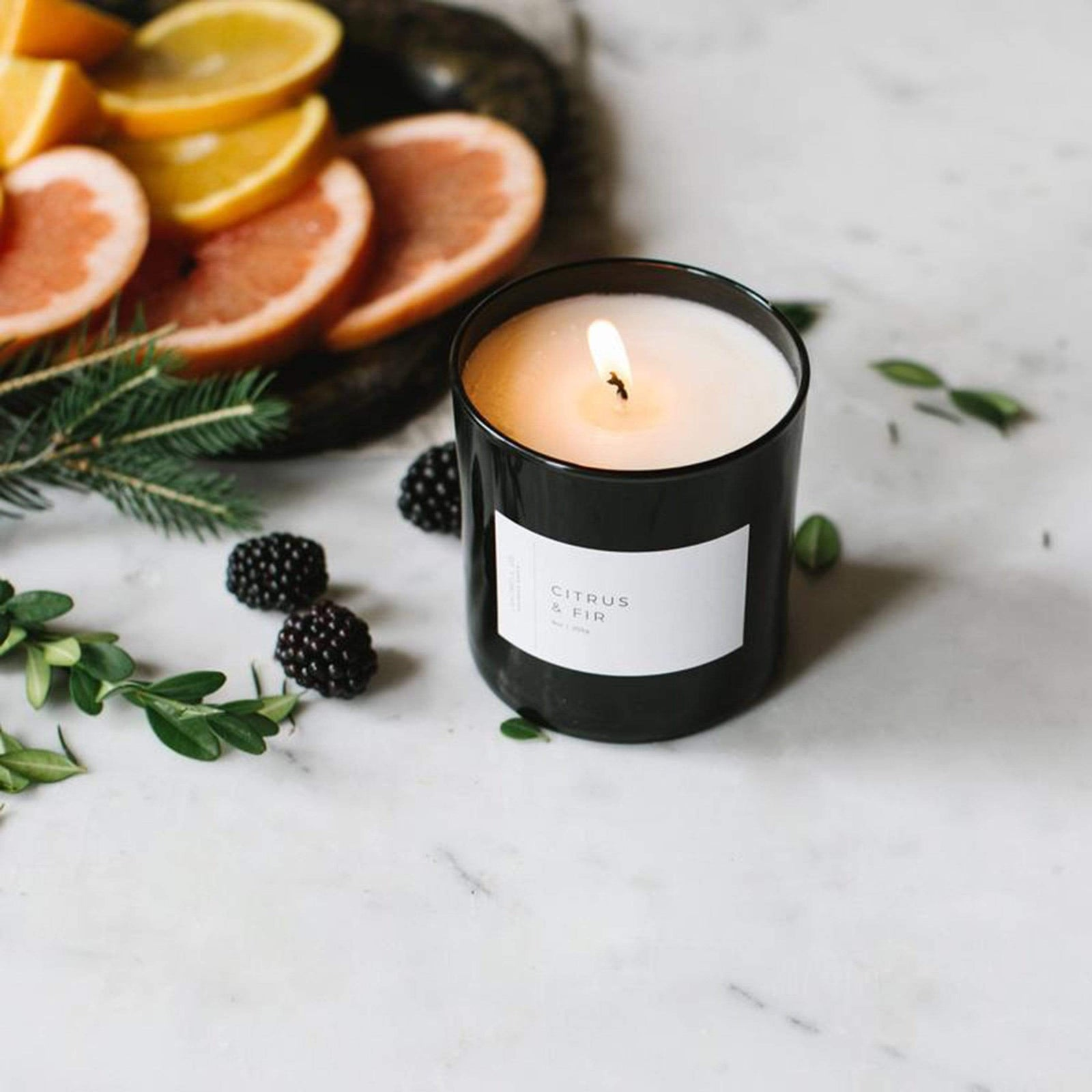 Lightwell Co. Candle Citrus & Fir Black Tumbler Candle