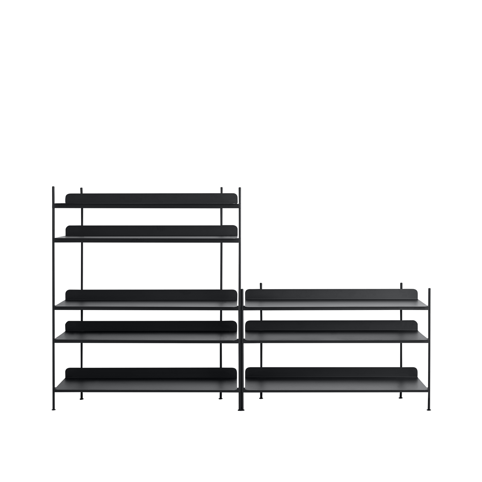 Muuto Furniture No. 7 / Black Compile Shelving System/Configuration