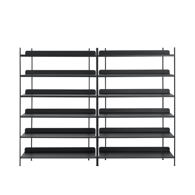 Muuto Furniture No. 8 / Black Compile Shelving System/Configuration