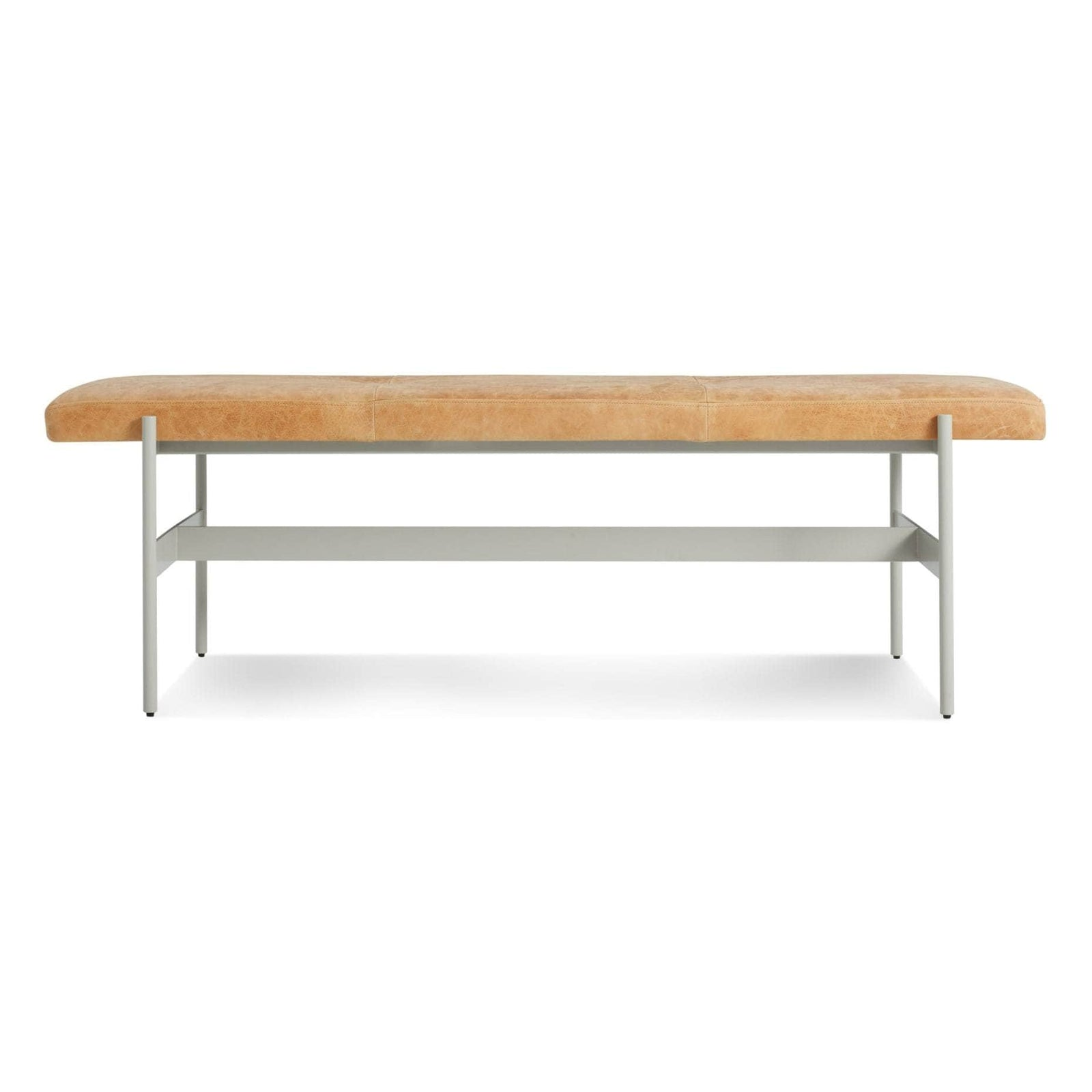 "Blu Dot Furniture 55"" / Camel Leather / Putty Daybench"