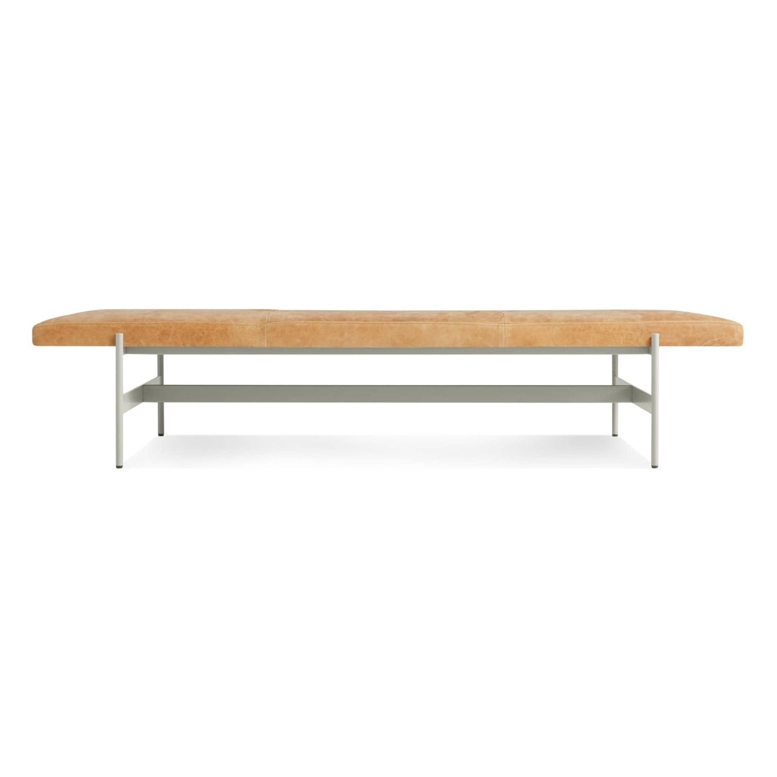 "Blu Dot Furniture 75"" / Camel Leather / Putty Daybench"