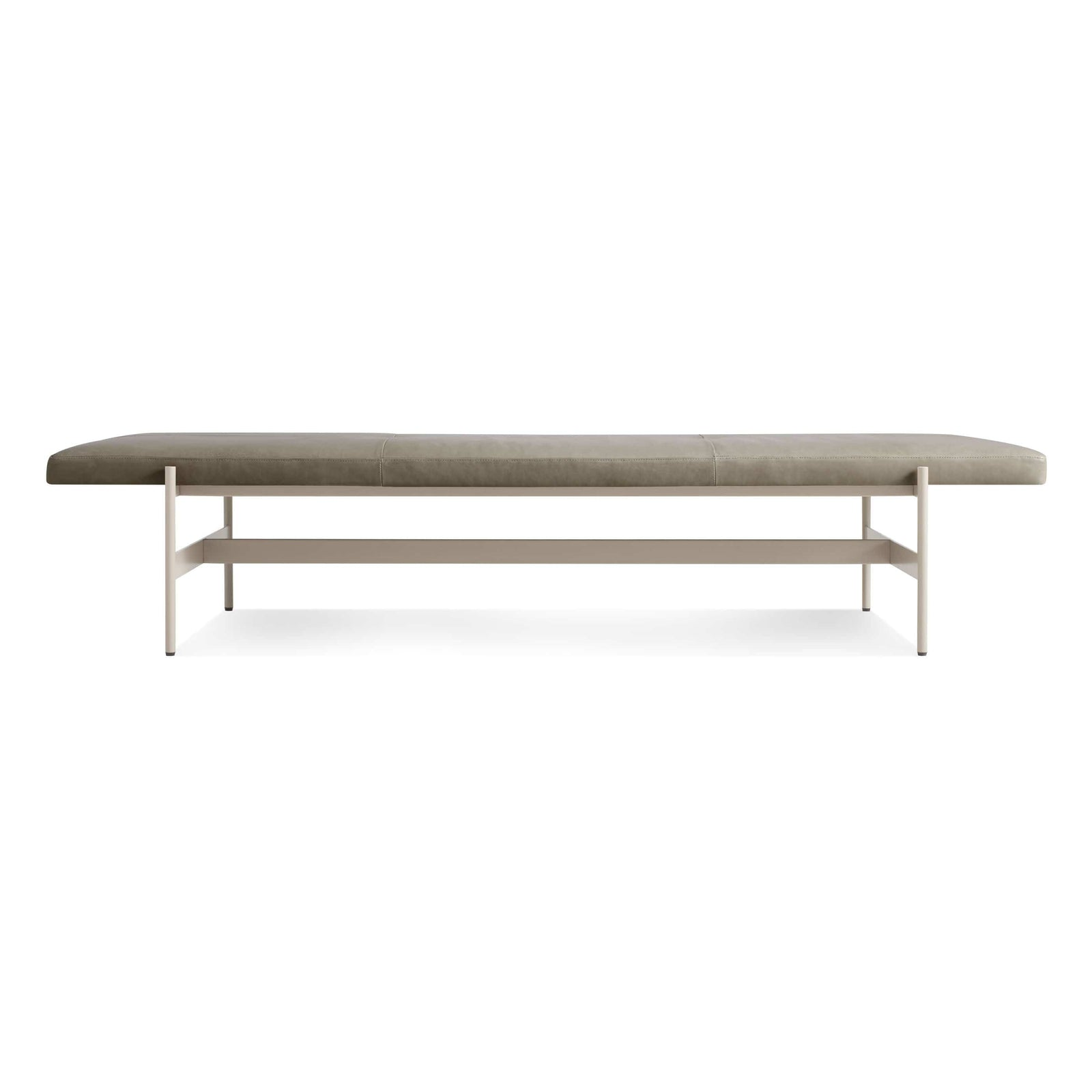 "Blu Dot Furniture 75"" / Grey Green Leather / Putty Daybench"