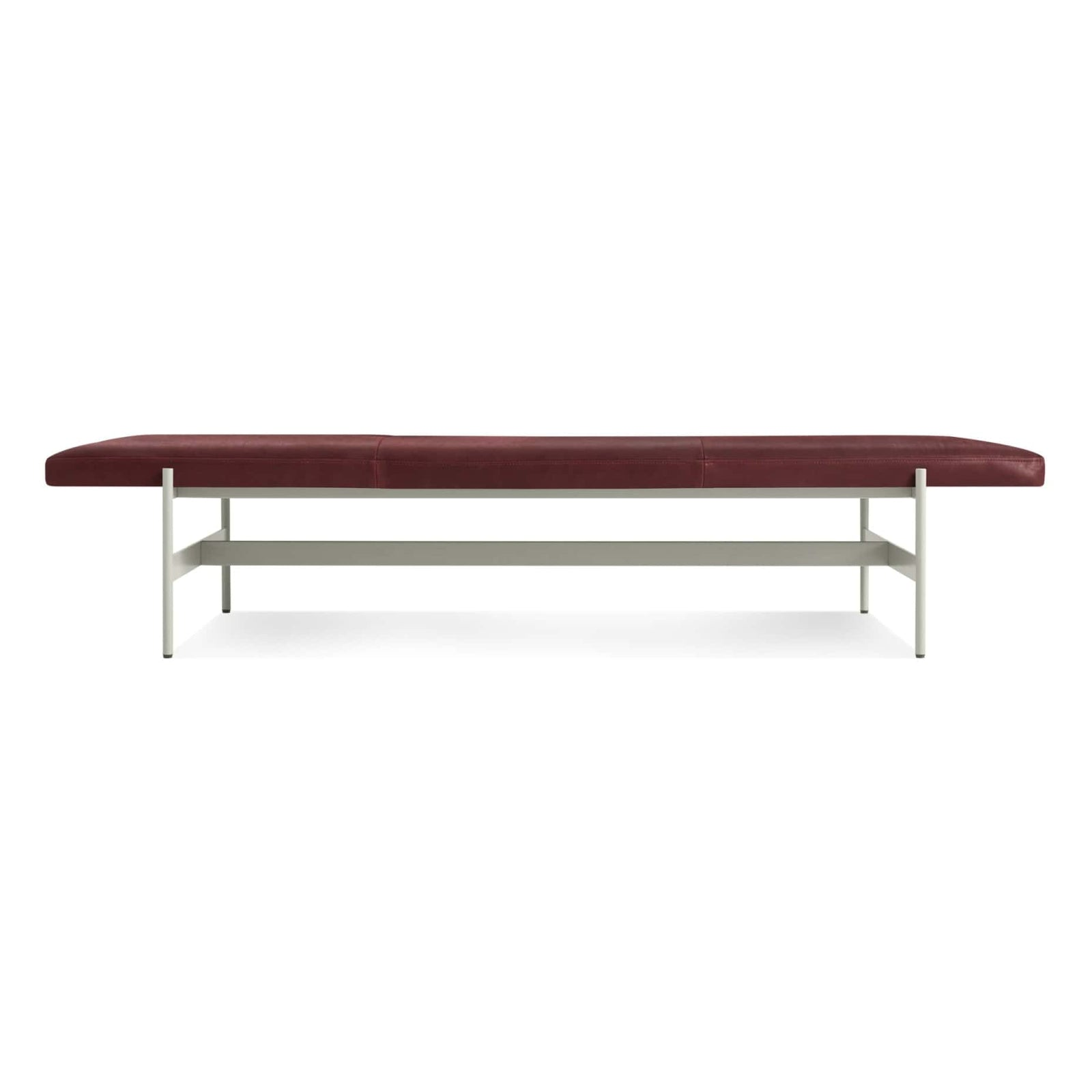 "Blu Dot Furniture 75"" / Oxblood Leather / Putty Daybench"