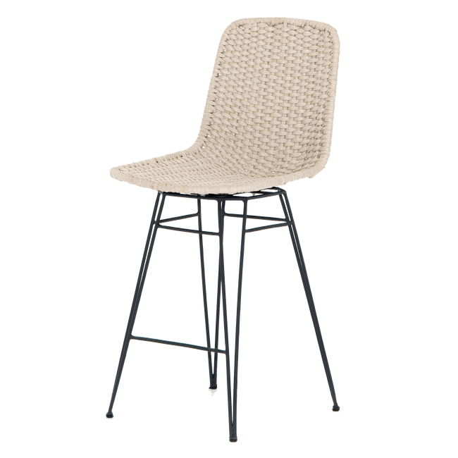 Four Hands Furniture Natural Dema Outdoor Swivel Counter Stool