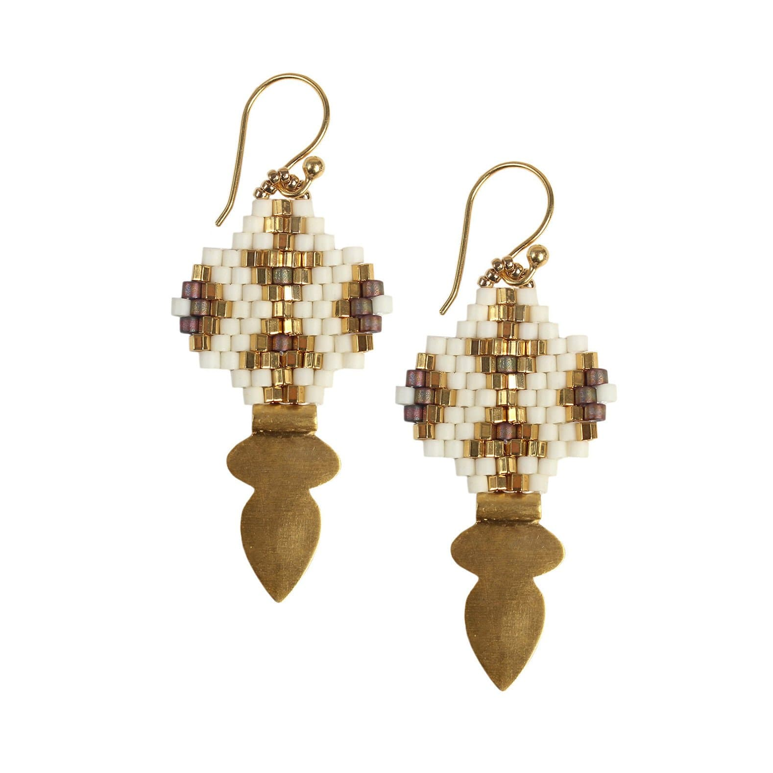 Bluma Project Jewelry Dex Earrings - White and Gold