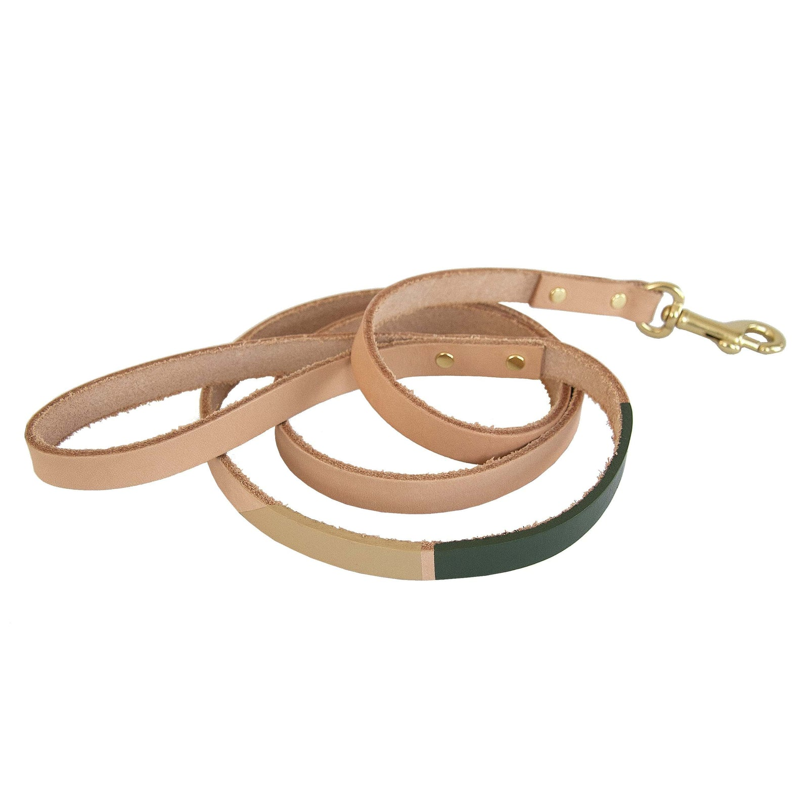 Son of a Sailor Pet Eastwood Leash - Small, Olive & Sand