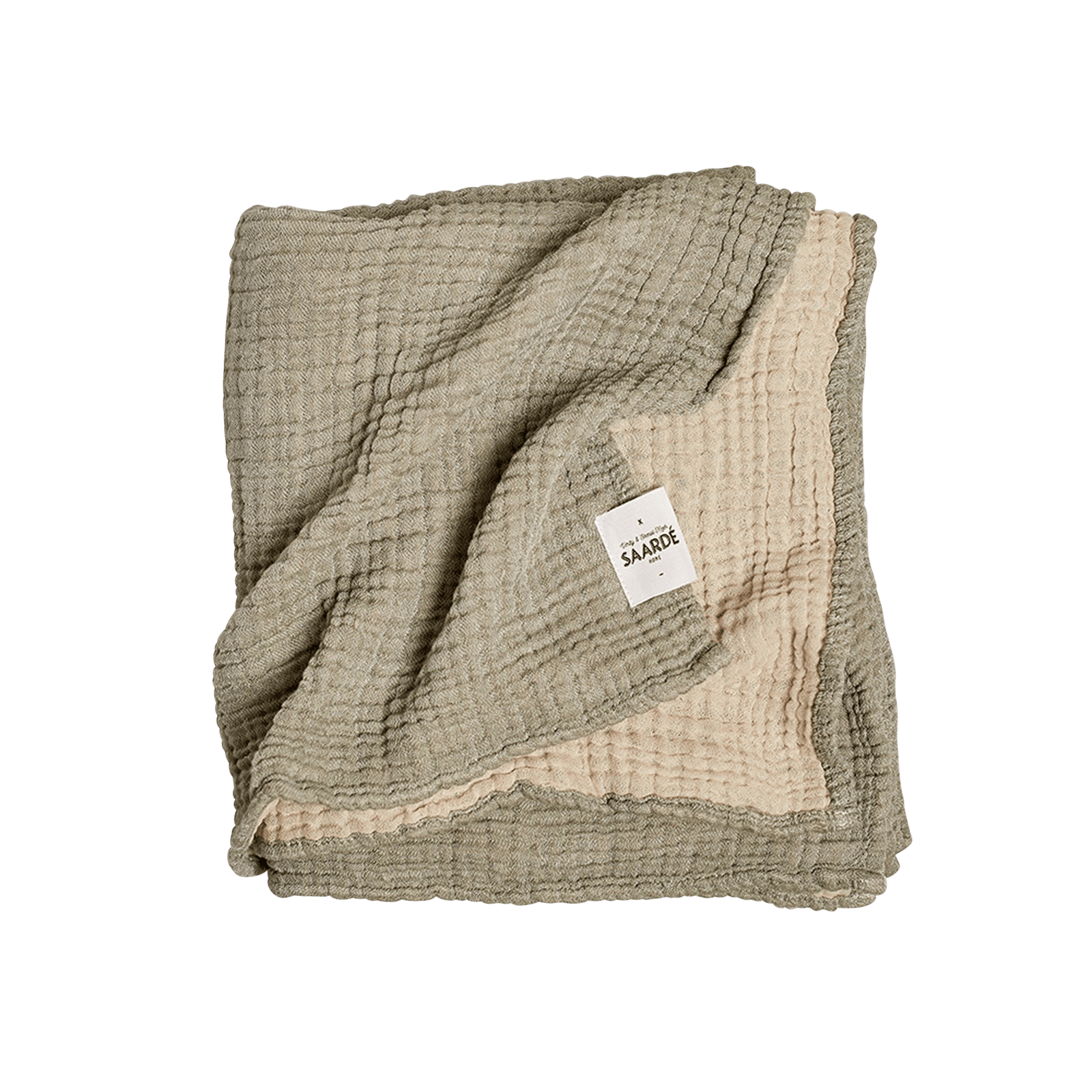 Saardé Child Olive/Clay Enes Crinkle Baby Blanket