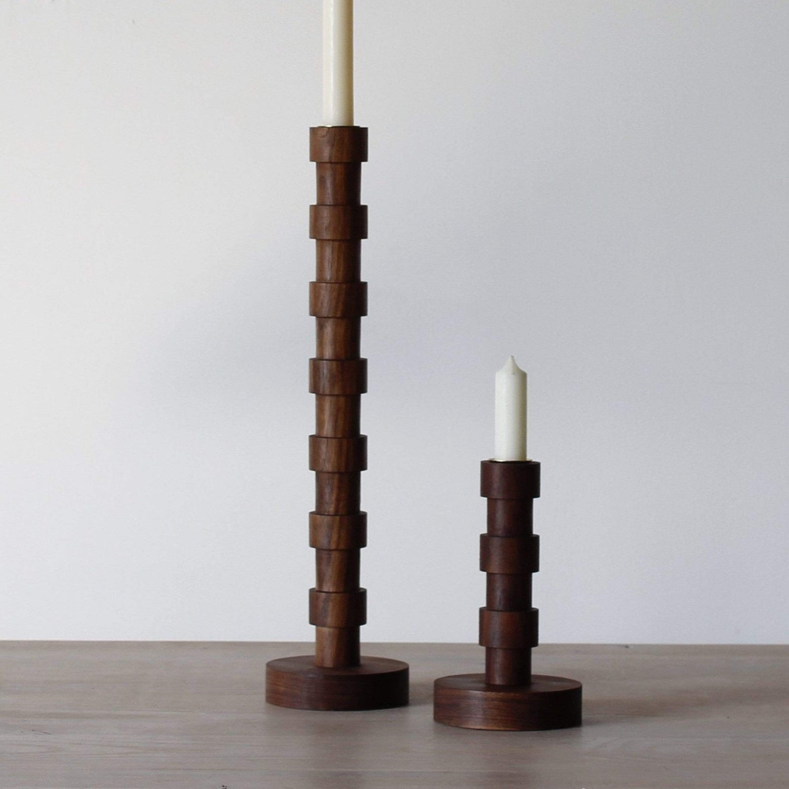 Lostine Candle Black Walnut / Small Franc Candle Holder