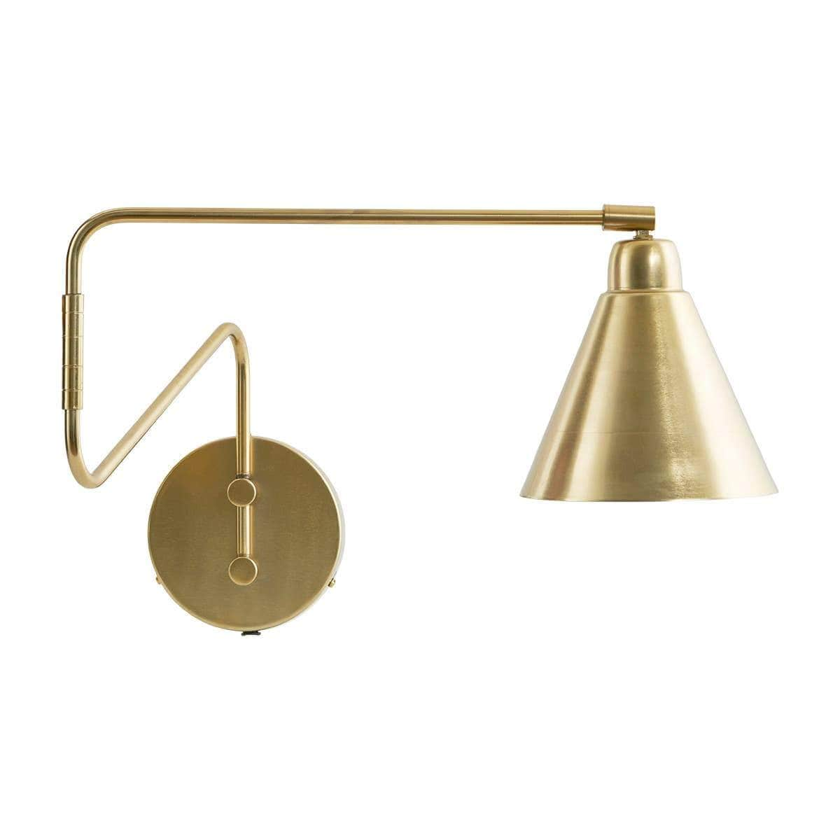 House Doctor Lighting Game Brass Wall Lamp, Large