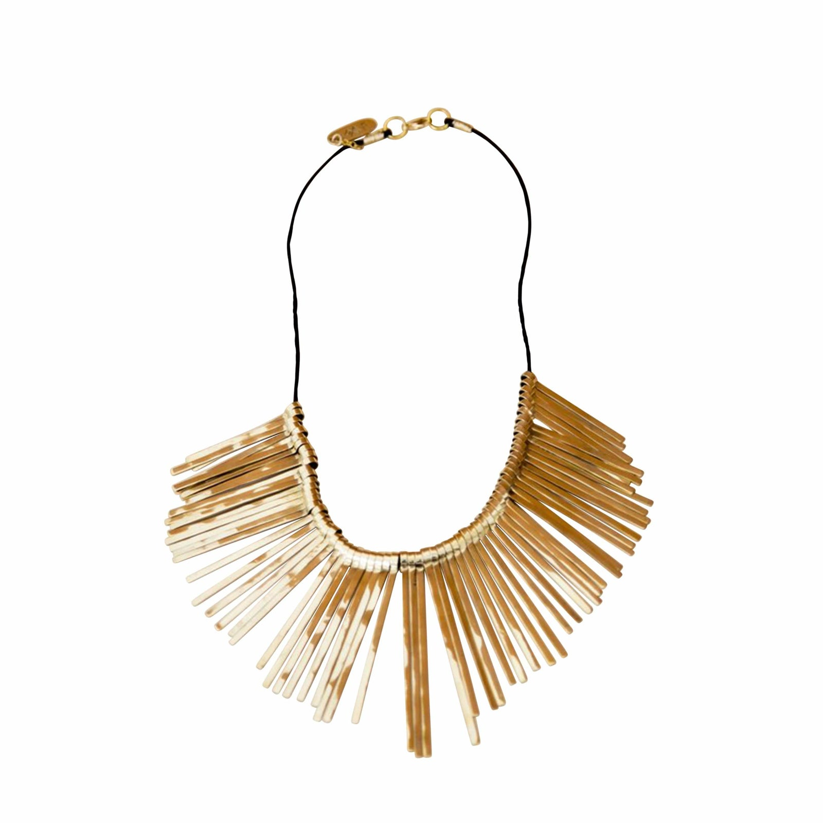 Rose & Fitzgerald Jewelry Gold Spikes Necklace
