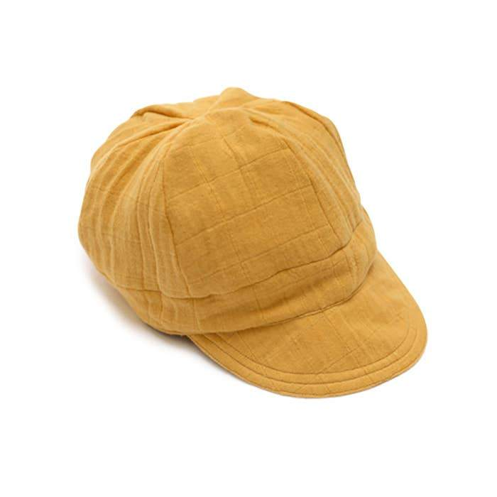 Ellie Fun Day Child Small Golden Mustard Newsboy Cap
