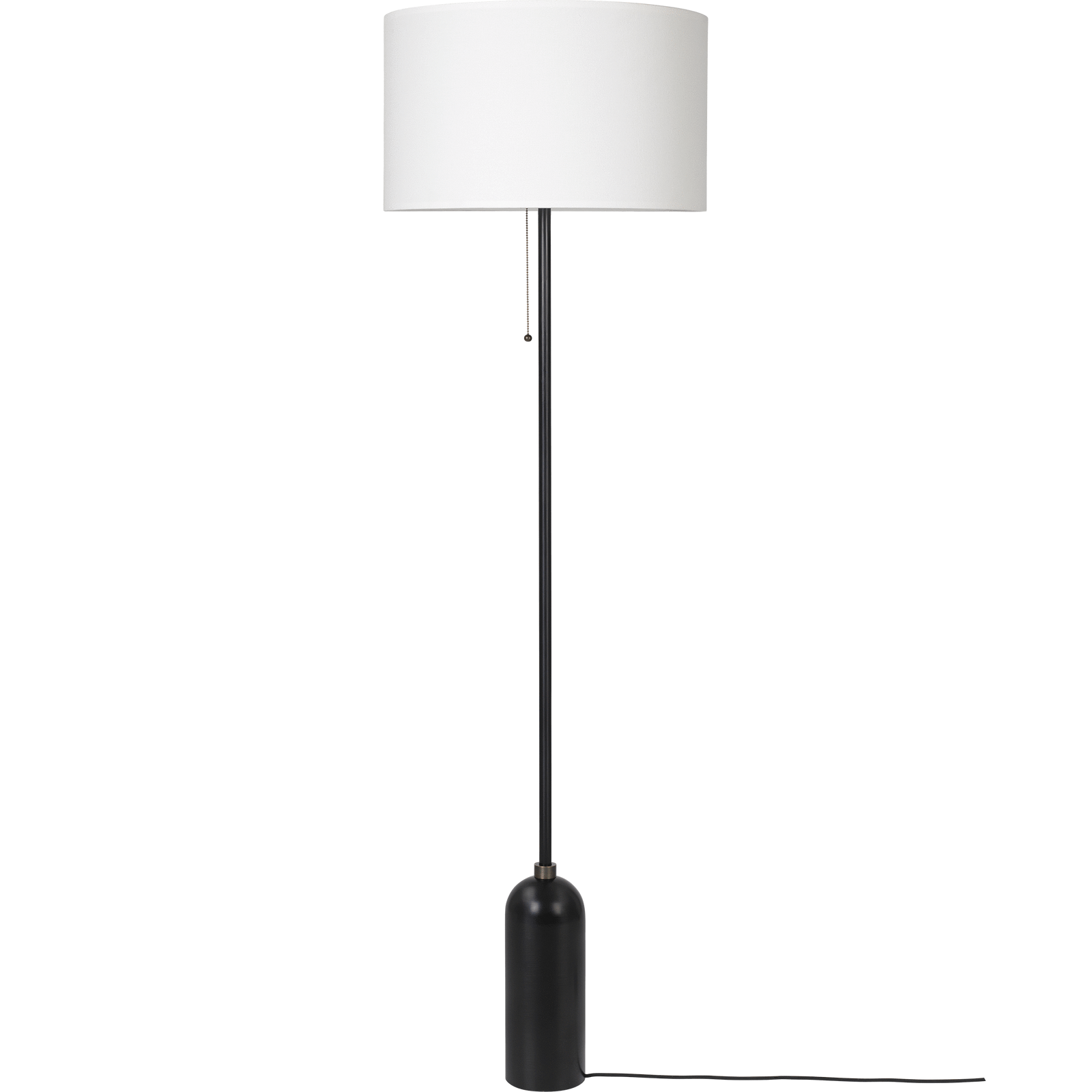 Gubi Lighting Blackened Steel / White Gravity Floor Lamp
