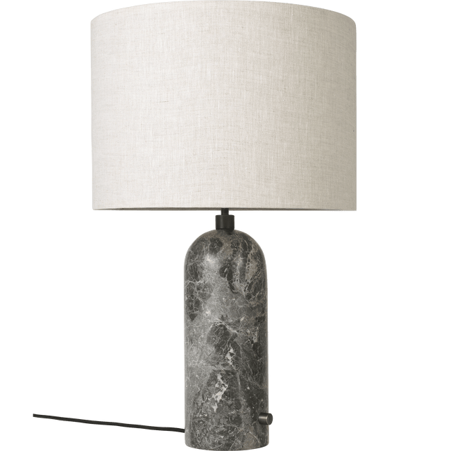 Gubi Lighting Grey Marble / Canvas Gravity Table Lamp, Large