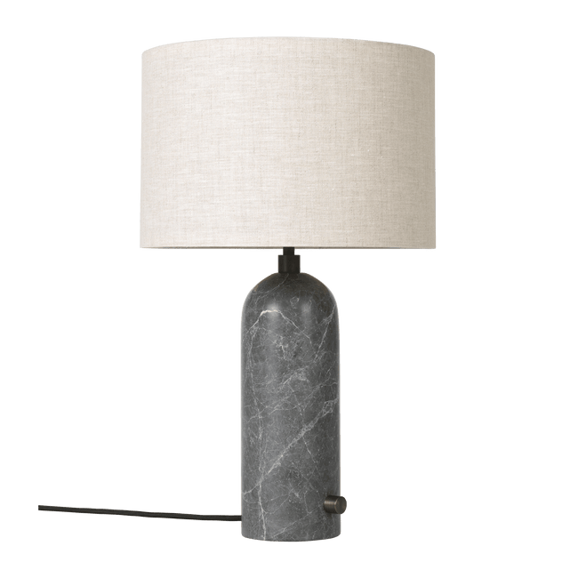 Gubi Lighting Grey Marble / Canvas Gravity Table Lamp, Small