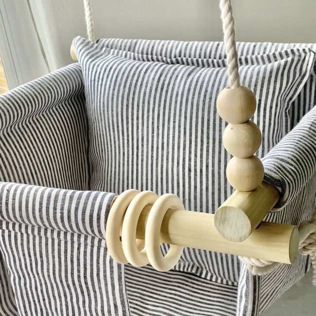 Scout Baby Co. Child Grey Linen Stripe Baby Swing
