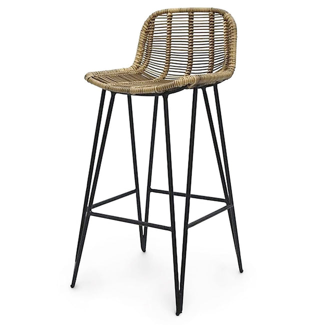 Palecek Furniture Natural Hermosa Outdoor Bar Stool