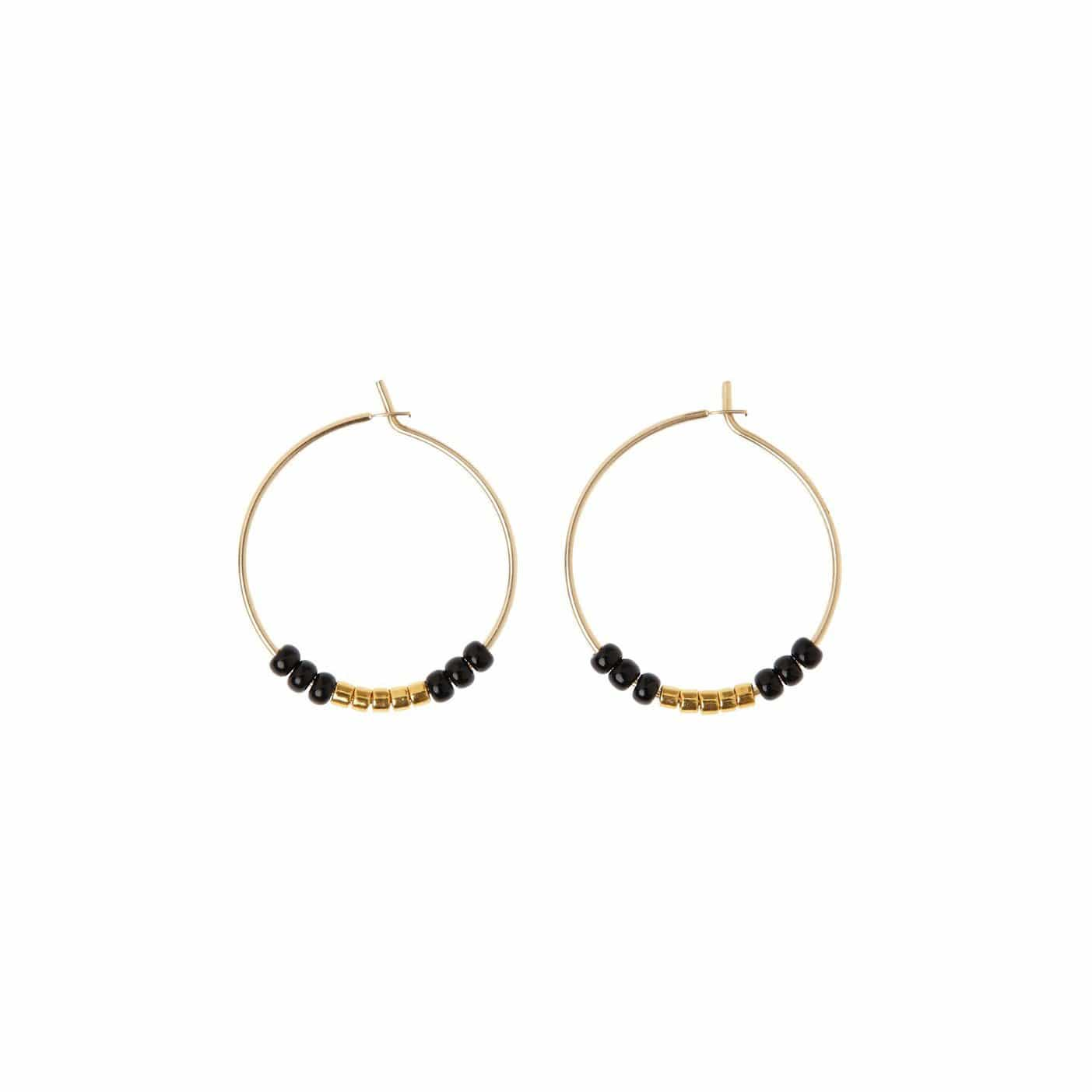 Sidai Designs Jewelry Hoop Earrings - Extra Small, Black