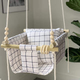 Scout Baby Co. Child Ivory Windowpane Baby Swing