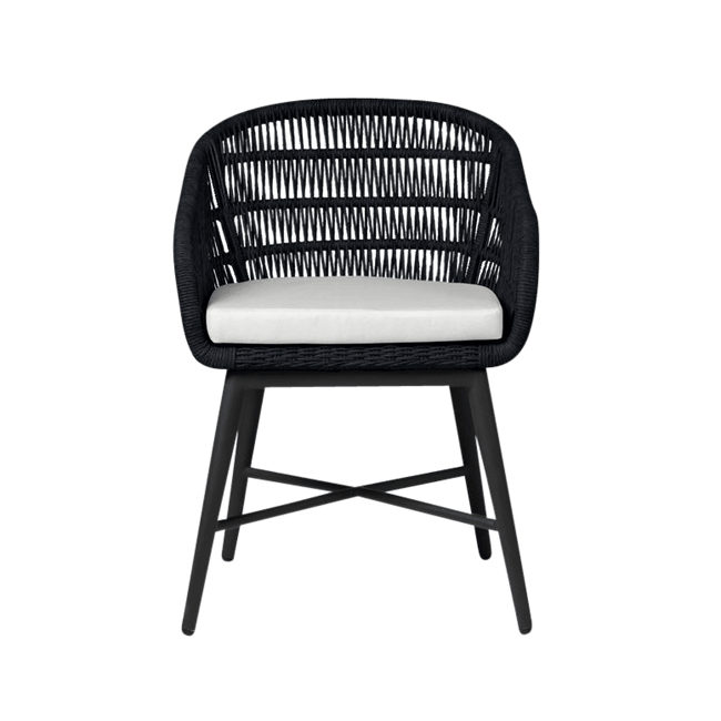 Made Goods Furniture Dark Navy Rope/Charcoal Frame Jolie Dining Chair