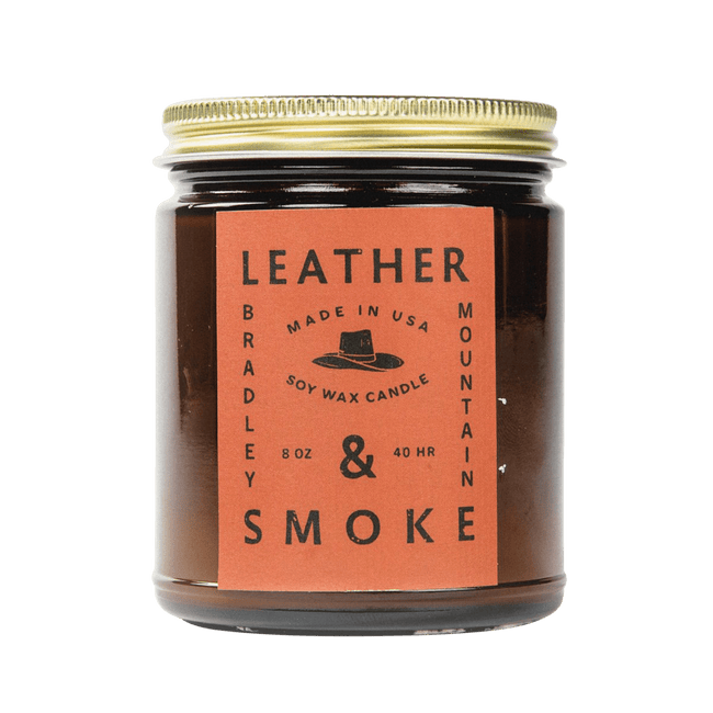 Bradley Mountain Candle Leather & Smoke Candle