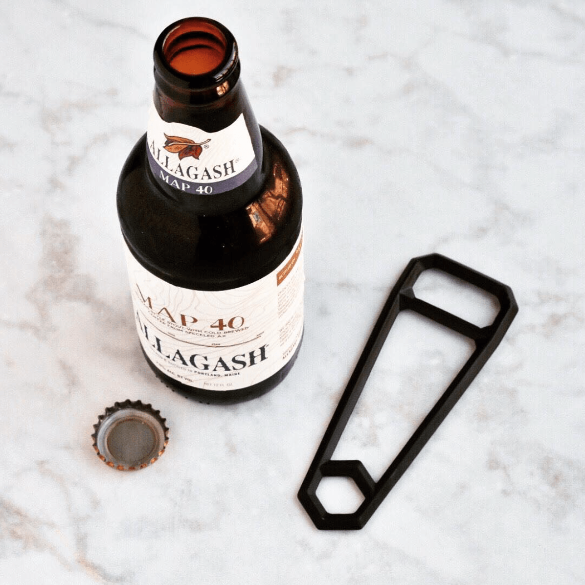 HEWN Kitchenware Leverage Bottle Opener – Blackened Brass