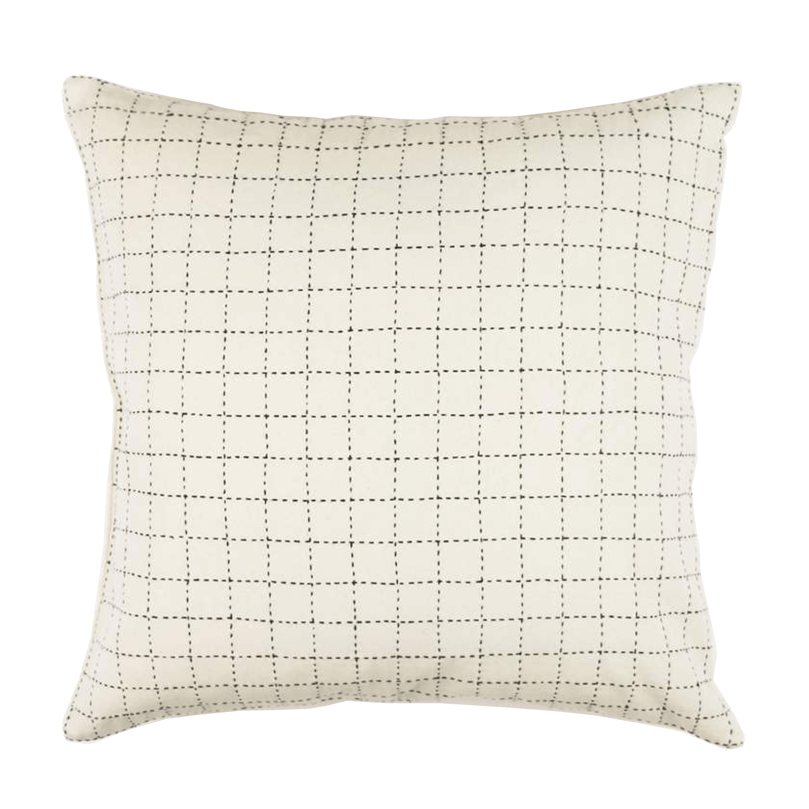 Anchal Pillow Mini Grid-Stitch Throw Pillow