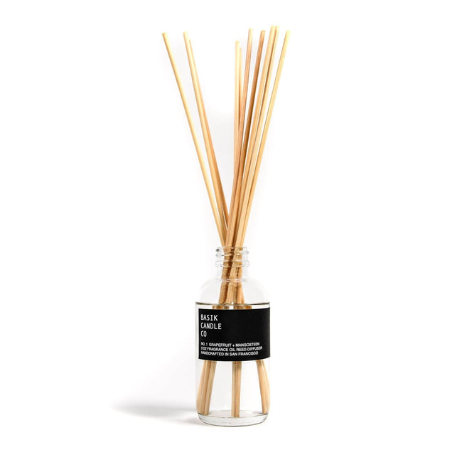 Basik Candle Co Candle No. 1 Grapefruit + Mangosteen Diffuser