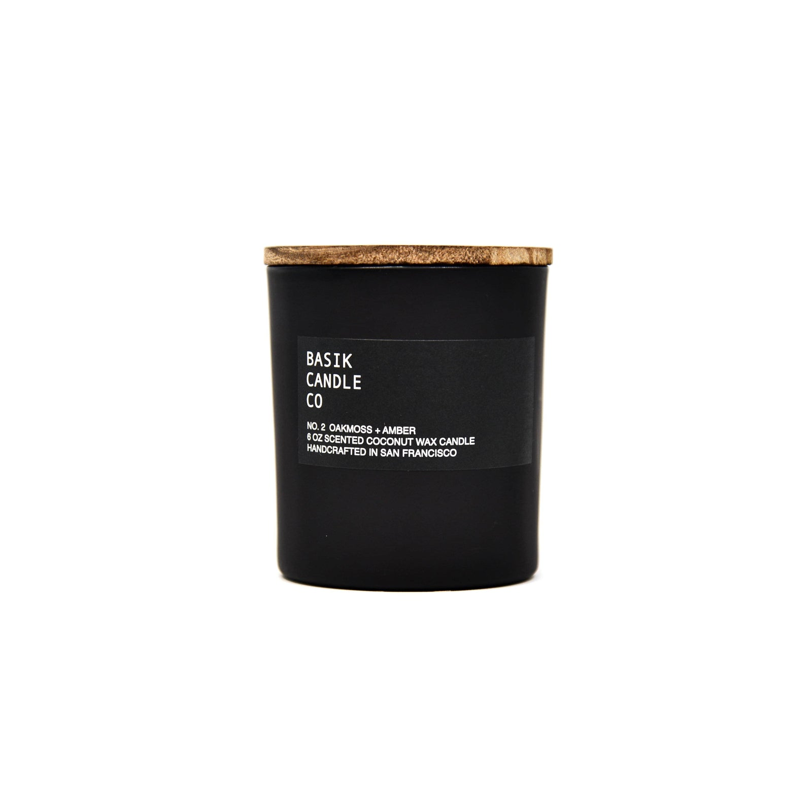 Basik Candle Co Candle No. 2 Oakmoss + Amber 6 oz Candle