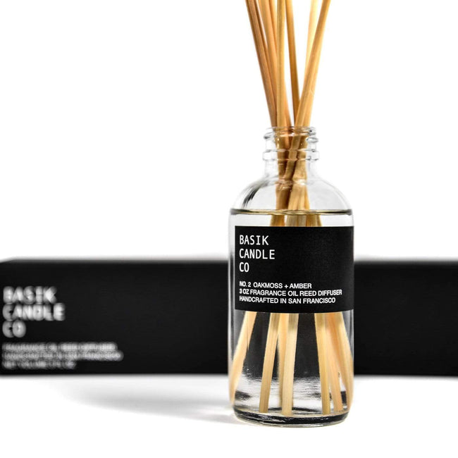 Basik Candle Co Candle No. 2 Oakmoss + Amber Diffuser