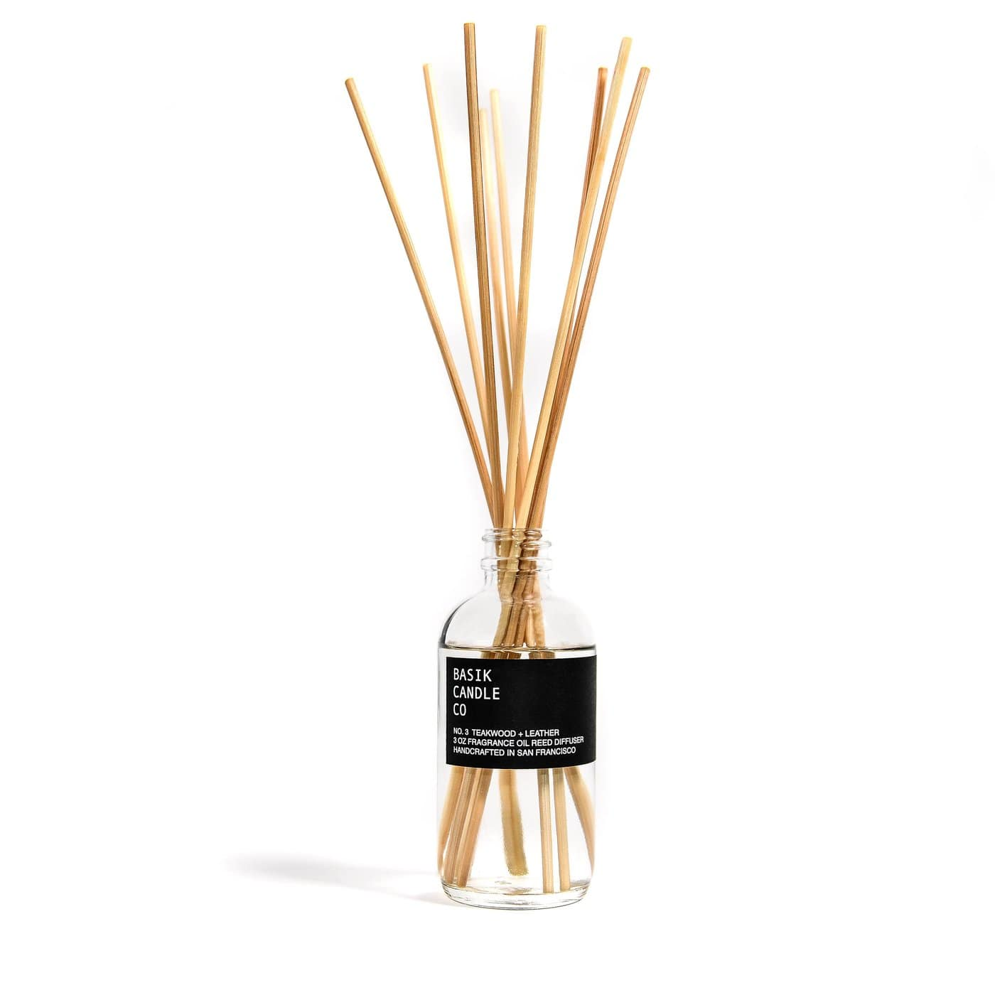 Basik Candle Co Candle No. 3 Teakwood + Leather Diffuser